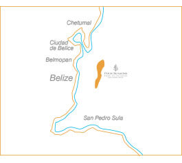 Thor Urbana - Mapa Four Seasons Private Island & Resort Caye Chapel