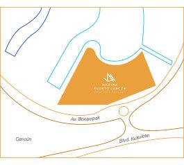 Thor Urbana - Mapa Marina Puerto Cancún, Cancùn