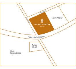 Thor Urbana - Mapa The Ritz-carlton Ciudad De México